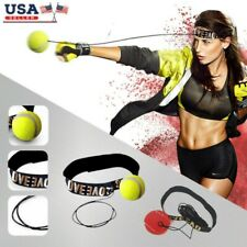 Boxing Punch Exercise Fight Ball + Head Band For Reflex Speed Training Us Seller