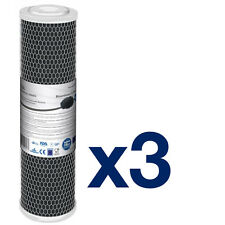 "3pk 10"" Carbon Block Filters for Reverse Osmosis"