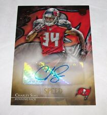 2014 Topps Valor CHARLES SIMS Speed Rookie Autograph RC/99 Tampa Bay BUCCANEERS