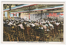 Convention Hall Meeting New Ocean House Swampscott Ma 1920s postcard
