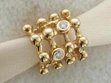 Genuine Pandora 14K solid gold Matrix charm with 4 genuine Diamonds