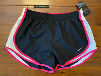NWT New Womens Nike Tempo Running Black White Pink Dri-Fit Shorts Size XL