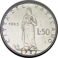 elf Vatican City 50 Lire 1973 Pope Paul VI   Olive Branch