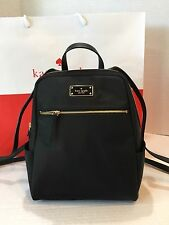 NWT KATE SPADE NEW YORK BLAKE AVE BLACK NYLON HILO SMALL BACKPACK $248