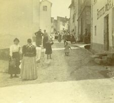 France French Riviera Street Scene Bar Old Amateur Stereoview Photo Pourtoy 1900