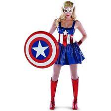 American Dream Marvel Captain America Womens Super Hero Costume Dress. LG 12-14