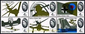 EBS Great Britain 1965 - 25th Anniversary Battle of Britain BLOCK SG 671pa MNH**