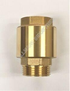 """Check valve, brass, 1.25"""" NPT male in, 1.25 FNPT female out, Hallmark Industries"""
