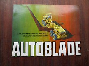 Vintage 1969 Autoblade Scraper Grader Sales Brochure