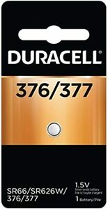 Duracell 376/377 1.5V Silver Oxide Battery (1 Battery)