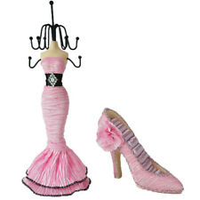Pink 2pc Display Holder Mannequin Elegant Dress Jewelry and Shoe For Rings