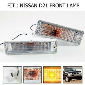 Crystal front bumper Signal Light For Nissan Datsun D21 Hardbody pickup 1986-97