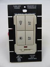 Crestron Clw-Dim4Rfa infiNet Wall Box Dimmer 4 button almond smooth