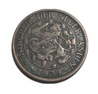 1929 NETHERLANDS 1 CENT IN NICE CONDITION