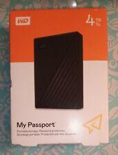 Western Digital WD 4TB Black My Passport External Hard Drive USB 3.0 SEALED