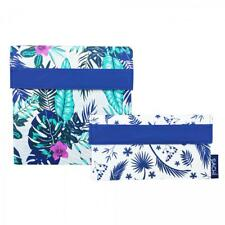 NEW Sachi Lunch Pockets Set - SANDWICH & SNACK - Reusable Bags - Tropical Paradi