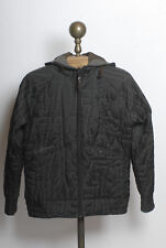 Women's Salomon Signature 1947 Black Quilted Hooded Insulated Ski Jacket Large