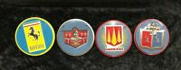 4 Vintage Cereal Box Automobile Collector Badges