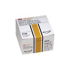 "3M 918 3"" Hookit Gold Film Disc P150C Box of 50 Sandpaper Abrasive Featheredging"