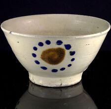 Antique RARE DECORATED KOREAN JOSEON DYNASTY Pottery Rice TEA BOWL CHAWAN Cup