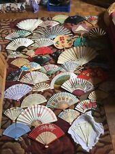 Joblot of 45 Vintage Fans In Various Conditions Some Very Old