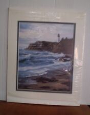 1996 LITHO OF YAQUINA LIGHT HOUSE OR BY SHARON  RICKERT