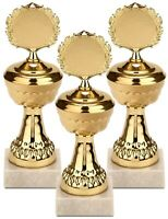 Goldene Trophäen 21cm Metall Pokale Preis Gewinner Sieger Sport Kindergeburtstag