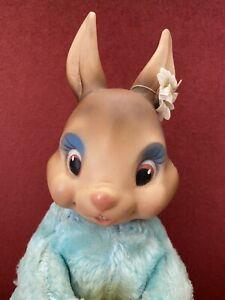 Vintage Gund Bunny Rabbit Rushton Rubber Face Plush Toy Easter