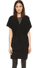 W600 NWT VINCE TEXTURE WOOL CASHMERE WOMEN LONG CARDIGAN WITH BELT SIZE XS $375