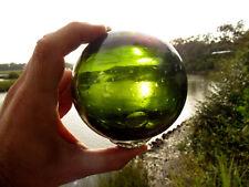 "Vintage Glass Fishing Float Green (Jade Dark Green) Large 12-3/4"""