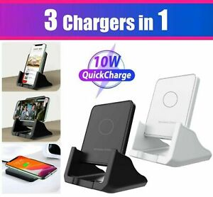 10/15W Wireless Fast Charger Charging Stand Pad Dock for iPhone Samsung Android