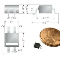 S454 - 10 Stück SMD Brückengleichrichter Gleichrichter 80V 0,5A  Micro-DIL MYS80