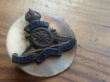 ORIGINAL WWI BRITISH ROYAL ARTILLERY MOTHER OF PEARL REGIMENT BADGE