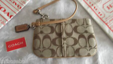 Coach Wristlet  Brown Signature C's   NWT!! #42391