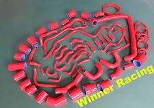 For Nissan 300ZX VG30DETT Z32 1990-1999 Silicone radiator&turbo &vacumm hose Red