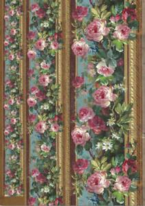 Carta per decoupage cm.50x70 bordura di Rose Stamperia