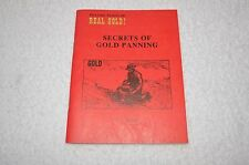 METAL DETECTING BOOK ~ PROSPECTING ~ SECRETS OF GOLD PANNING ~REAL GOLD INCLUDED