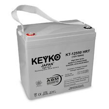 12V 55Ah Deep cycle High Rate SLA Replacement Rechargeable KEYKO AGM Battery(T1)