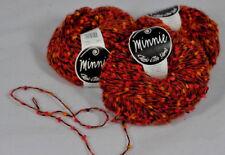 Classic Elite MINNIE kid mohair blend textured yarn ORANGE/RED Discontinued