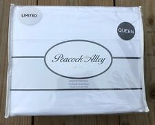 PEACOCK ALLEY Queen Flannel 6oz Double Sheered 4pc Sheet Set 100% Cotton White