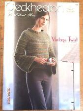 ~CLECKHEATON Book No. 965-11 HANDKNIT DESIGNS for WOMEN in VINTAGE TWIST - VGC~