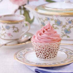 50 Filigree Little Vine Lace Laser Cut Cupcake Wrapper Liner Baking Cup Tide  CM
