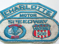Charlotte Motor Speedway World 600 Racing Patch