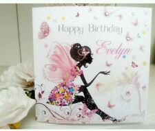 Personalised Handmade Birthday Fairy Card 1st, 21st,  40th, 50th 80th ANY AGE