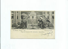 Cartolina Fregio Tempio M. Ausiliatrice Lima Perù Autografo Giuseppe Cassioli
