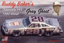 """Salvinos/JR 1980 Buddy Baker Oldsmobile 442 Gray Ghost 1/25 """"Model Car Mountain"""""""