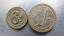 South Africa Hern 754B,754C. Sixpence and Shilling (unknown issuer)