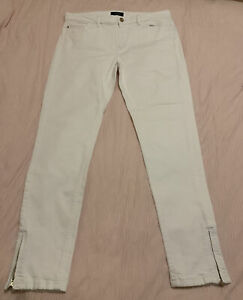 Marks And Spencer Autograph White Ankle Grazers Size 14 Long