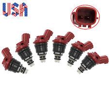 6 PCS Fuel Injectors Fit for Infiniti I30 96-99 Nissan Maxima 92-99 16600-96E01