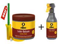 Effax Leather Balsam+Combi Cleaner Spray pack FREE Brushholder Car saddlery Boot